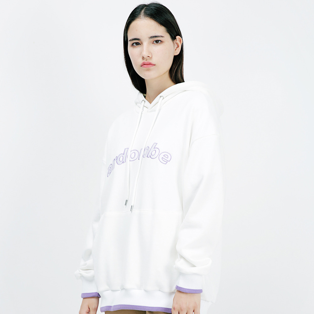 ARCH LOGO OVERFIT HOODIE AHD183002-WT