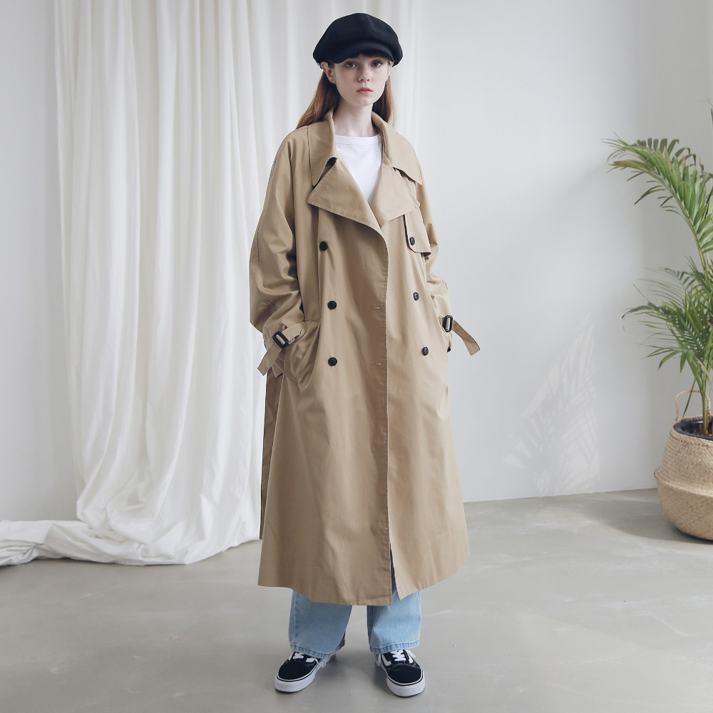 OVERFIT RAGLAN TRENCH COAT ACT183001-BG