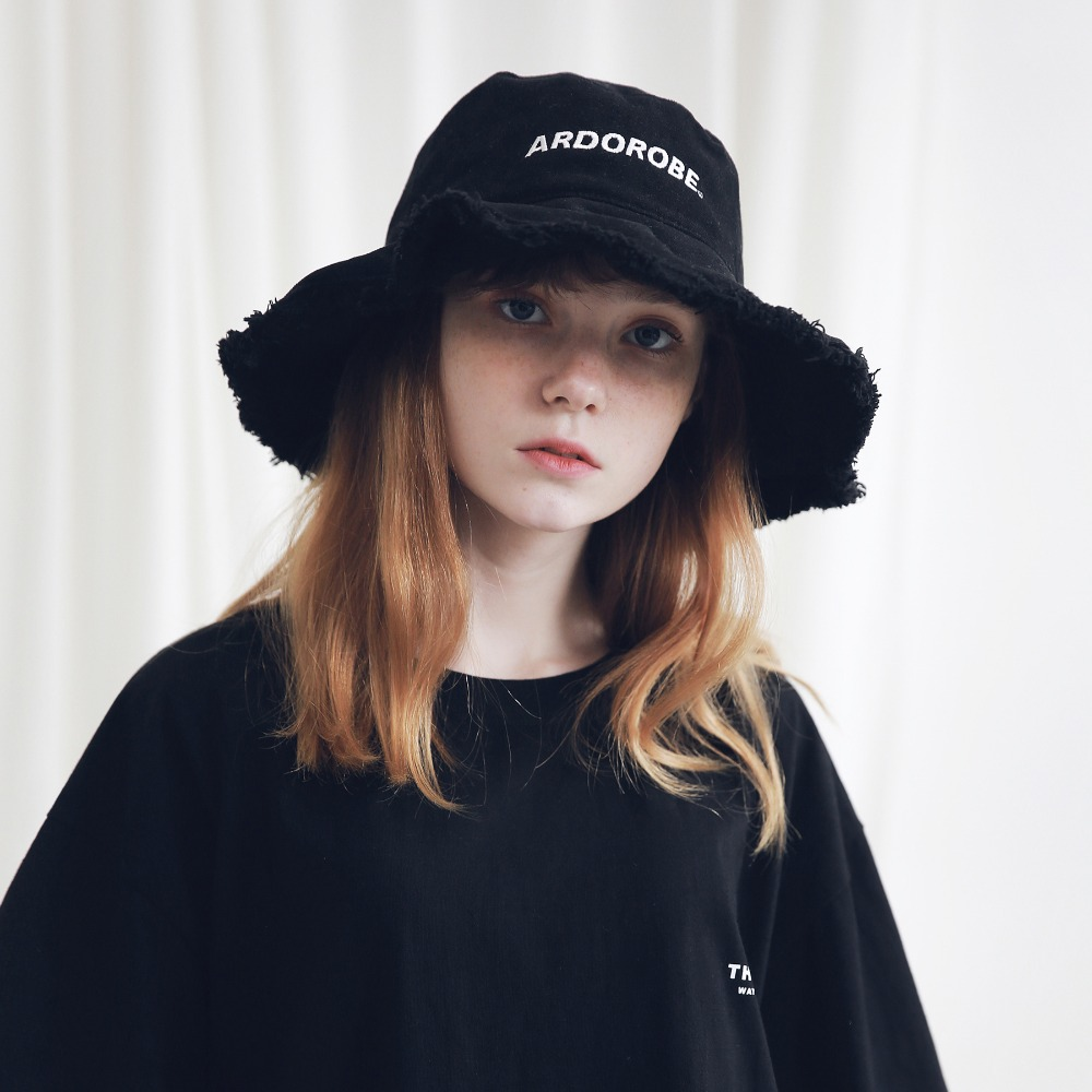 WASHING LOGO EMBROIDERY  BUCKET HAT AAC191002-BK