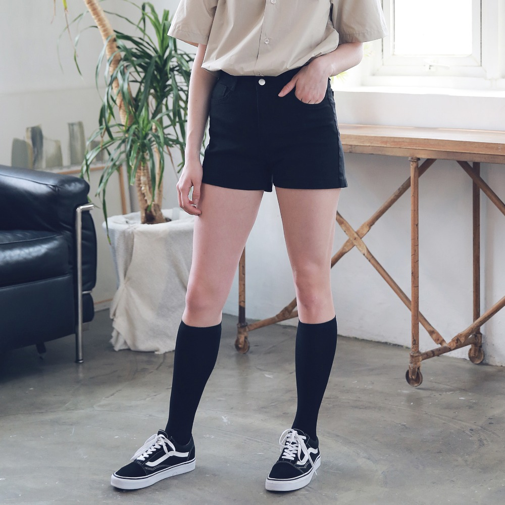 BASIC TWILL COTTON SHORTS ASP192002-BK