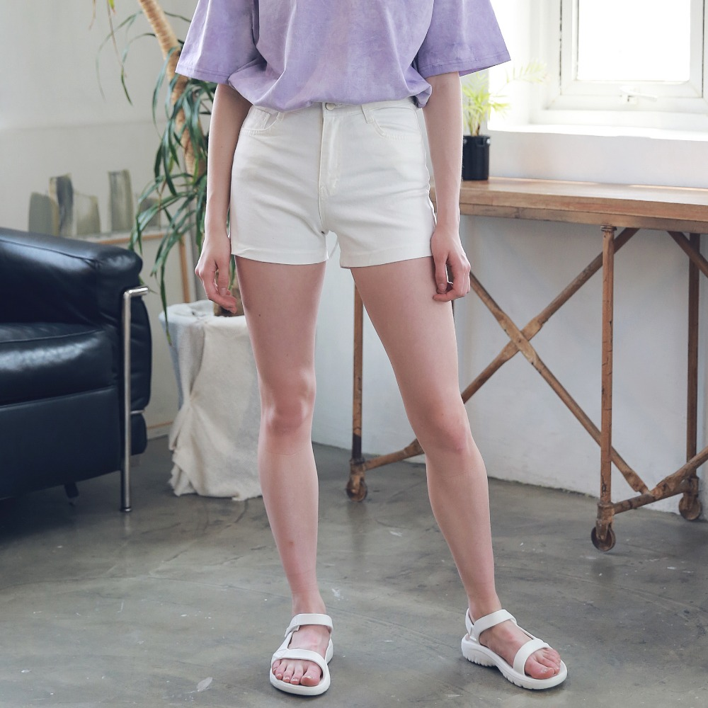 BASIC TWILL COTTON SHORTS ASP192002-WT