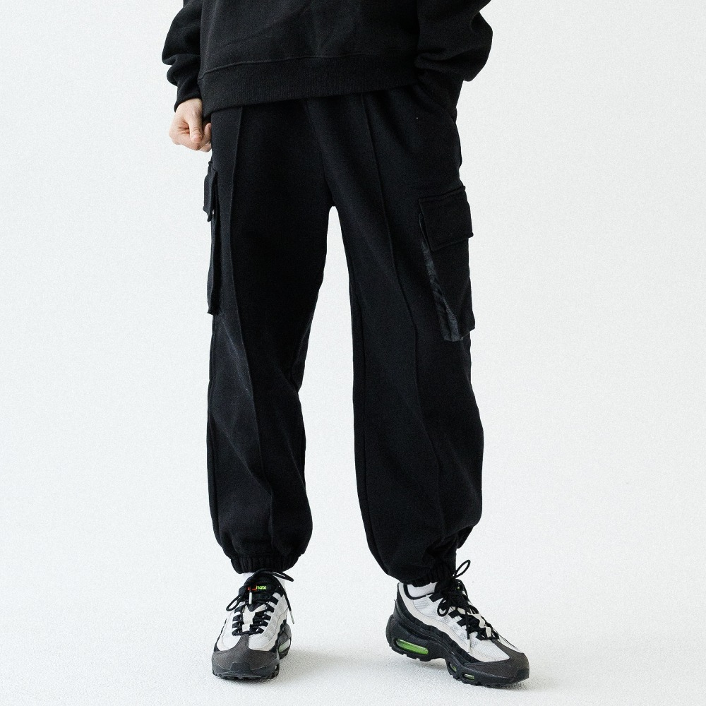 UNISEX CARGO SWEAT JOGGER PANTS ATP193001-BK