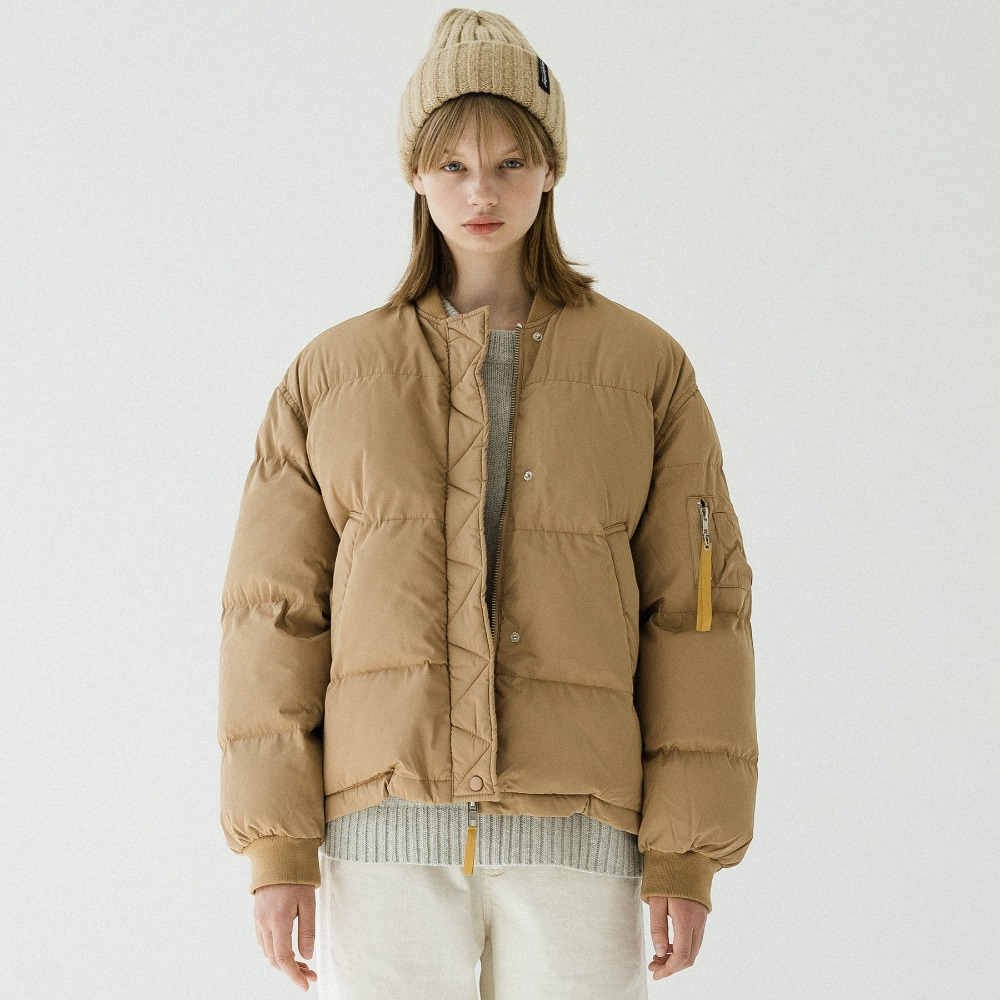 HALF NECK PUFFER SHORT JACKET APD193001-BG