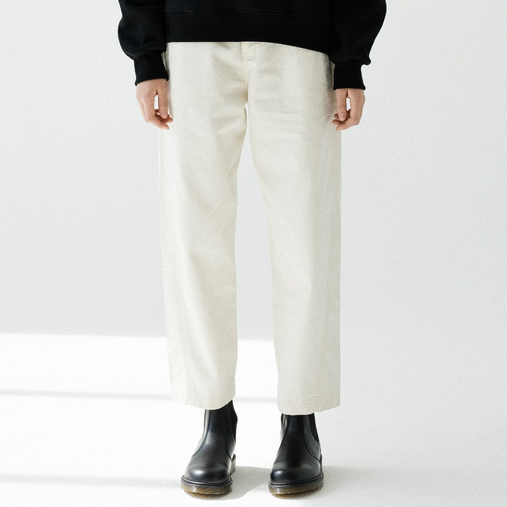 NO TUCK CROP CHINO PANTS ALP193001-BG