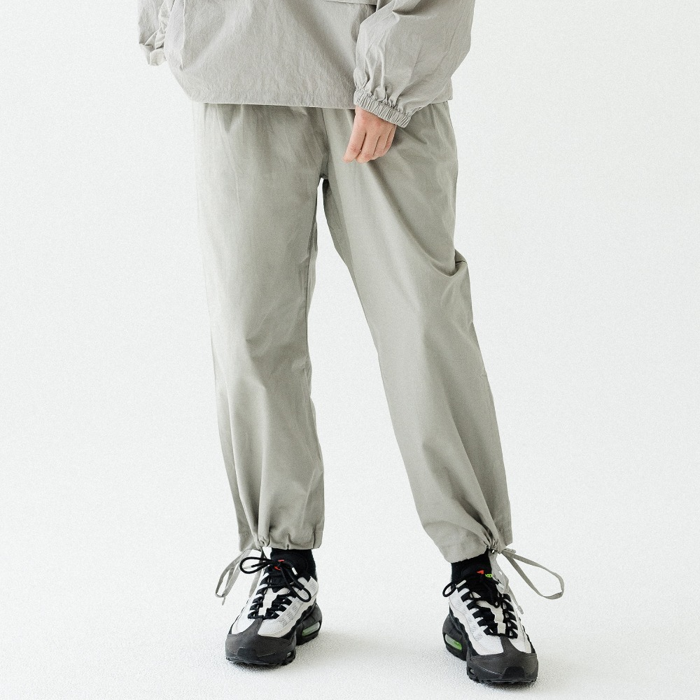 PIN TUCK WIDE JOGGER PANTS ALP193002-GR