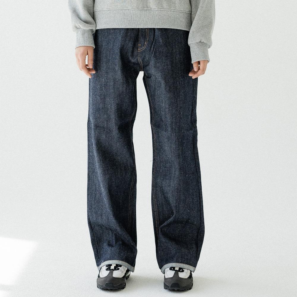 WASHING WIDE DENIM PANTS ALP193004-SV