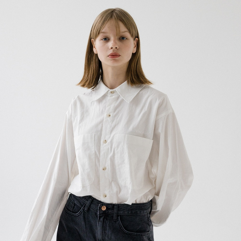 UNISEX DOUBLE POCKET BASIC SHIRT AST193001-WT