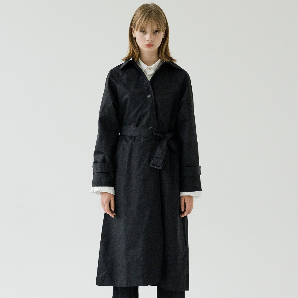 RAGLAN SINGLE TRENCH COAT ACT193001-BK