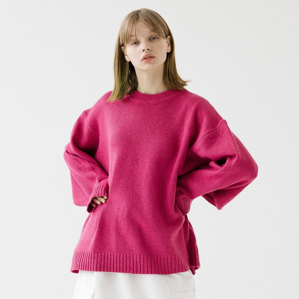UNISEX LAMBS WOOL ROUND NECK KNIT ANT193001-PK
