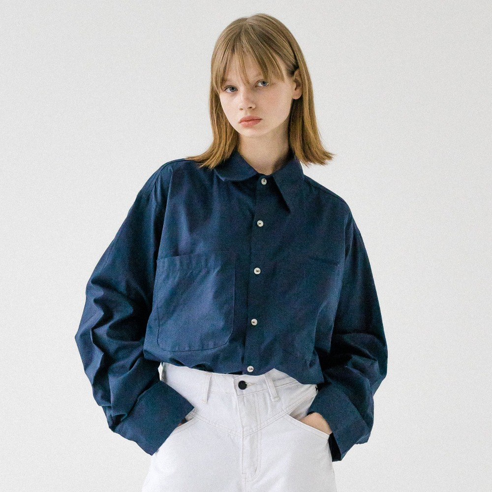 UNISEX DOUBLE POCKET BASIC SHIRT AST193001-NV