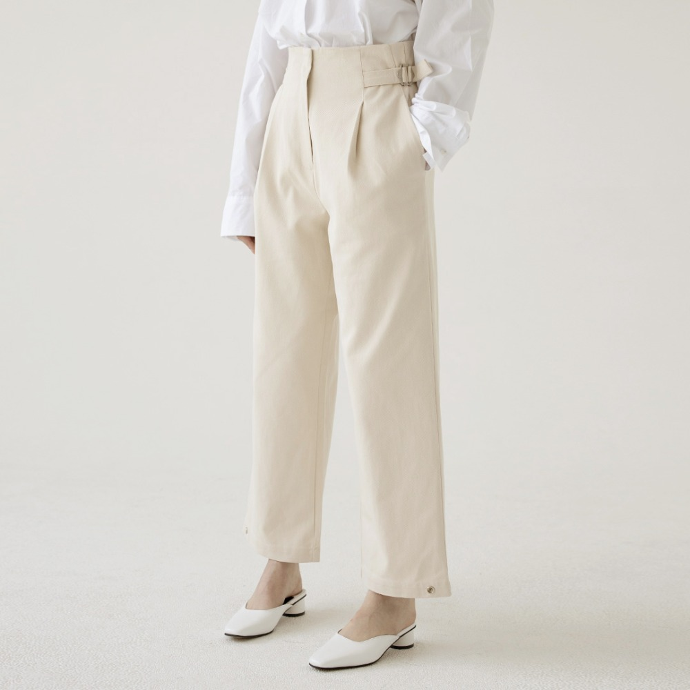 high waist wide cotton pants ALP201001-IV