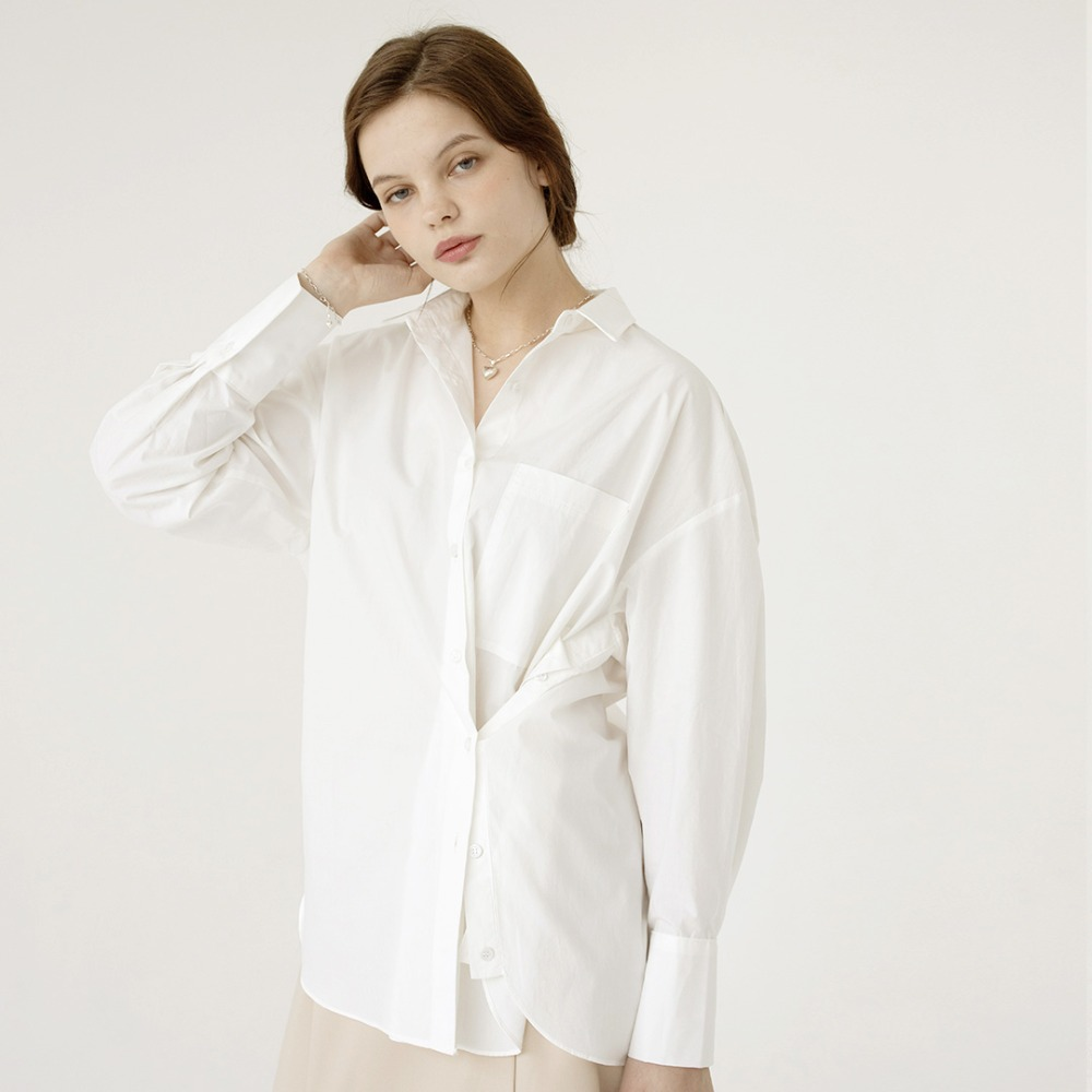 2way oversized shirts  AST201003-WT