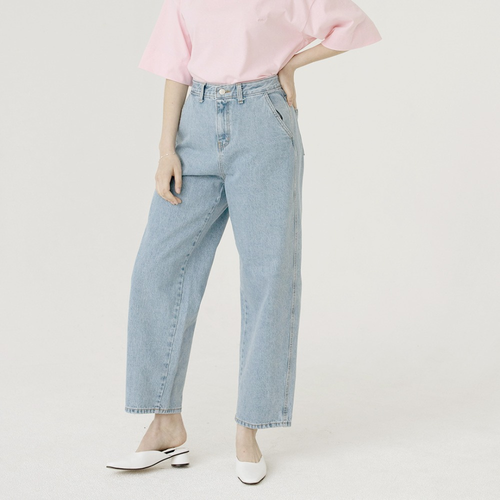 high waist wide denim pants ALP201002-BL