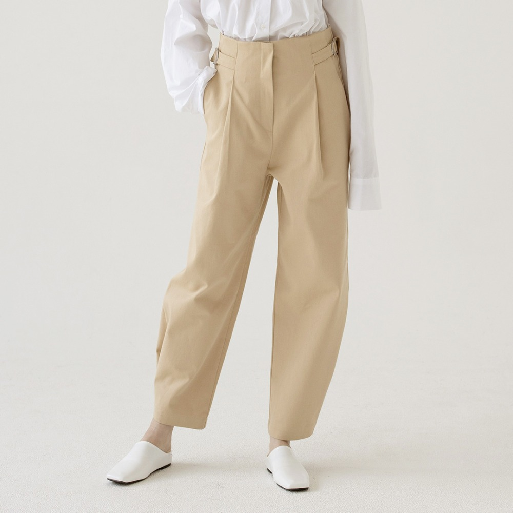 high waist wide cotton pants ALP201001-BG